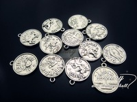 Min.order $10(mix order)Tibetan silver(6PCS) Jewelry Accessory Taurus Charms(3842#) 17*20 mm
