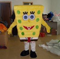 SpongeBob Costumes Mascot Adult Cartoon Mascot Performance Cute Cartoon character Mascot Free shpping by EMS