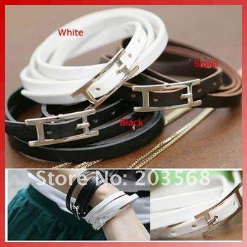 D19+10 pcs/lot New Cool Fashion Multi-Layer Wrap Leather Buckle Belt Bracelet