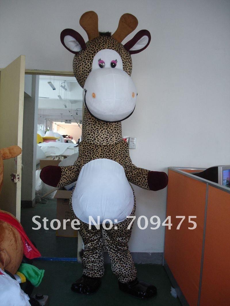 Cartoon Giraffe Costumes Mascot Adult Cartoon Mascot Performance Mascot Free ...