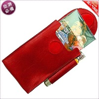 500pcs/lot leather cigarette and lighter case holder clip