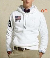 free shipping,fashion,100% cotton,best quality,Size S-XXL,men&#39;s brand pullover hoodies/outerwear,whosale and retail-white