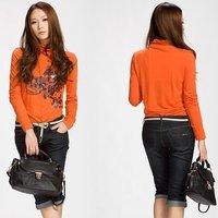 Free shipping women's Shirts sweters /ladies' t shirt sweater/ beauty T- shirt/ shing color t-shirt
