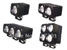 "HOT!!!Popular !Free shipping!!!2"" 10W 12V CREE Chip LED  worklight,6000K,800 lumens/pcs;Housing color: black, white(China (Mainland))"