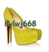 women high heel shoes, platform pumps, suede 16cm high heel dress shoes!