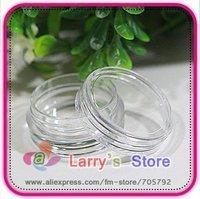 Free Shipping 80pcs/Lot Nail Art Glitter Dust Powder Empty Case Box Whole Sale Clear Pots Bottle Container 3g 3gram/Jar