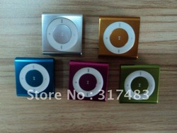 50pcs/lot,MP3+earphone+usb+4GB MICRO SD/TF card ,2012new metal good quality mp3 clip,FREE shipping(China (Mainland))