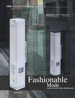 FREE SHIPPING aluminium wall mounted ashtray YB-HW104-SA (H48CM) for smoking ban solution