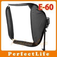 "Easy Fold speedlite softbox flash gun softbox E-60cm 24"" Photography Equipment Foldable Softbox Hot sale"