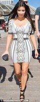 Free Shipping 2012 Hot Selling HL Elastic Knitted Bandage Dress H255 Kim Kardashian 3/4 Sleeves Cocktail Dress