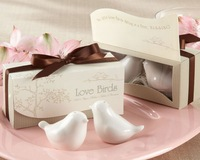 Lovebirds In The Window Ceramic Salt & Pepper Shakers For Wedding Favor Party Promotional Gift