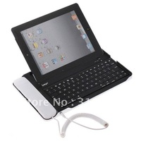 Bluetooth Keyboard Aluminum Case with Skype Telephone for iPad 2 Tablet PC