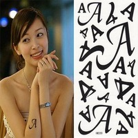 Free shipping wholesales English letter alphabet A tattoos stickers