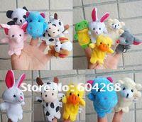 Cartoon Animal Finger Puppet,Finger toy,finger doll,baby dolls,Baby Toys,Animal doll 1000pcs/lot (10pcs/bag)