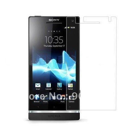 Free ship 20PCS  for Sony Ericsson Xperia Arc HD Xperia S LT26i Screen Guard film Protector (with retail pack)