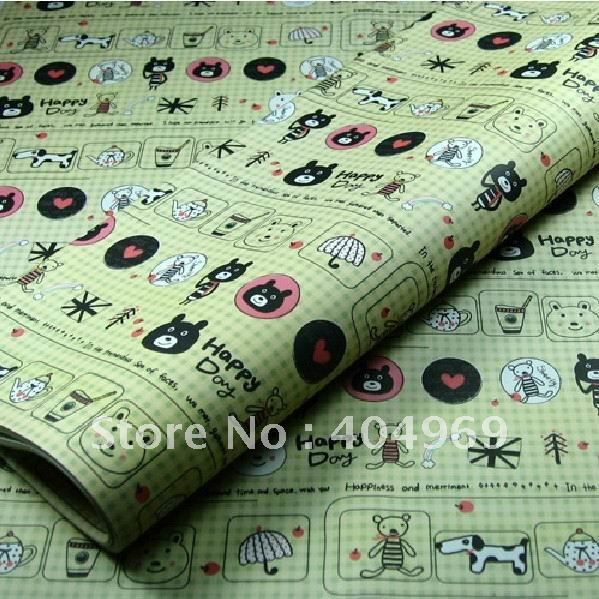 YY113 gift packing paper 75X52CM,60gsm,50pcs/lot,logo:happy day,2012;gift wrapping paper;cartoon wrapping paper;gift wrapper(China (Mainland))