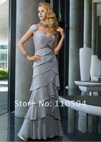 MD044 Fashion chiffon sleeveless mother of bridal dress