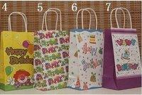 200pcs fashion paper bag , gift package, garments bag ,happy birthday bag 21X13X8cm