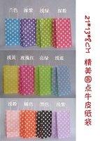 200pcs fashion paper bag , gift package, garments bag ,polka dot promotional bag 21X13X8cm