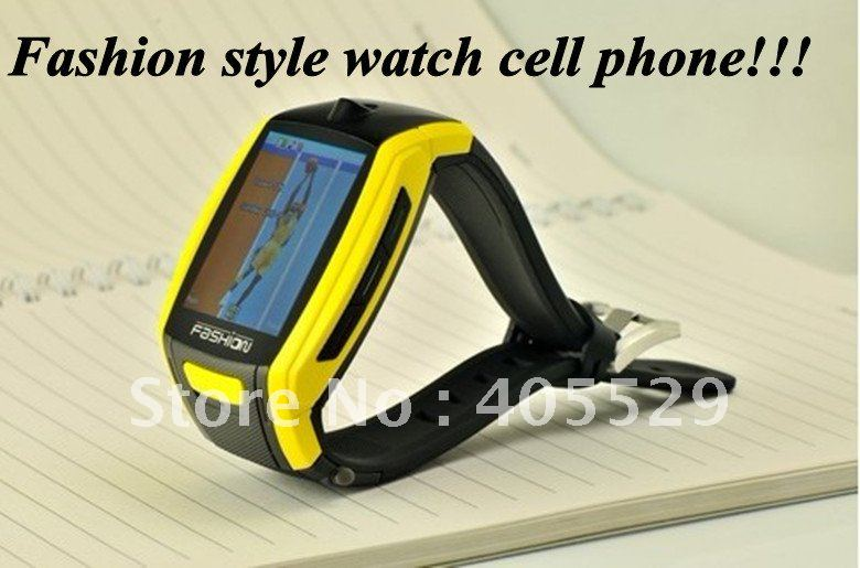 "1.8""TFT inch touch-screen Fashion style watch cell phone with FM Stylus and Muti-languages Free shipping!!!(Hong Kong)"