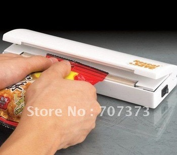 Free Shipping 48pcs/lot Reseal and Save Bag Sealer Food Saver As Seen On TV Portable Vacuum Sealer