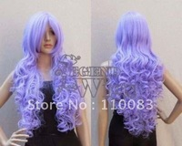 "Freedom deliver ****************New 32"" Long Curly Lilac Purple Wavy Cosplay Costume Party Wig< 569 >"