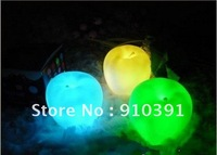 Free Shipping 6cm changeable colors led apple lamp,apple light,table desk lamp for holiday party Festival decoration.