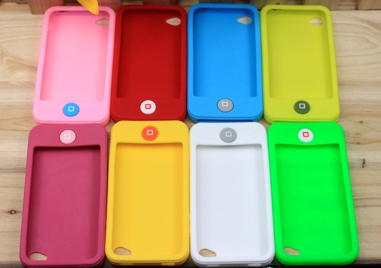 Free Shipping! 20pcs/lot Soft Silicon Back Cover Cell Phone Case for iphone 4 4S Silicone Case(China (Mainland))