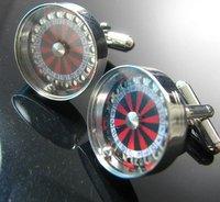 fashion Roulette model Shirt cuff Cufflinks cuff links  drop shipping for men's gift  575#
