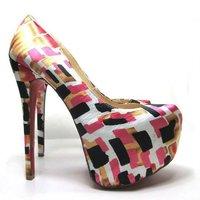Туфли на высоком каблуке lady's crystal platform high heel shoes, high heel platform crystal sole lady sexy party shoes, sexy Pumps