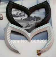 freeshipping! Wholesale Mazda 3 Mazda 2 sedan carbon fiber bat standard lamp bat tail LED adapted logo