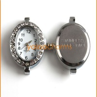 Wholesale - 4 Fashion Oval Watch Face li-ion battery watch Case Accessories Inlay Rhinestone Have stock 151452