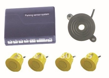 Free shipping! wholesale Car parking sensors/back up radar/Car Reversing BiBi Parking Car Reverse Radar Kit