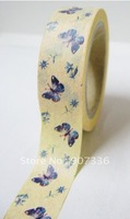 Shipping Free,colorful printing washi masking tape,printing washi tape,15mm x 6m