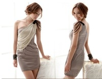 2012 dress really new Banquet nightclub Dress sexy bridesmaid , evening dress,Single oblique Shoulder