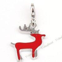 Free shipping /   Wholesale - 20 Zinc Alloy Reindeer charm Pendants Fit Hot Sale Fashion DIY Bead Chains Necklace 220077