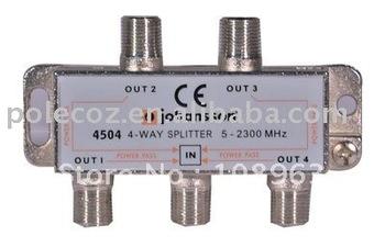 4 WAY satellite splitter / tv splitter/ high quality/20dB isolation