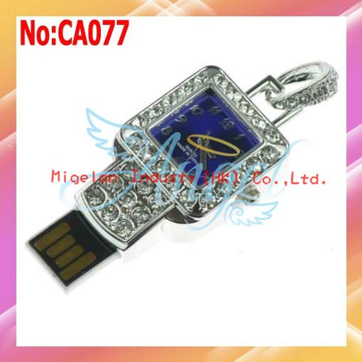 Wholesale!1/2/4/8/16GB  USB Flash Drive,Lover USB Flash Drive With Gift Box+Necklace+Free shipping 2year warranty #CA087