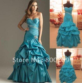 mermaid evening gownsSL-6007 Popular A-line Sweetheart Taffeta Prom/ Evening Dressesbridal 2012