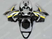 Factory Outlet,1 set Yellow silver Fairing KAWASAKI Ninja ZX7R ZX-7R ZX 7R ZZR 750 1996 - 2003 96 97 98 01 02 03