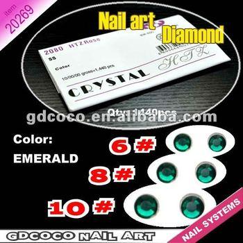 20269#6-10#Emerald Crystal glitter nail art rhinestone/Super shiny diamonds