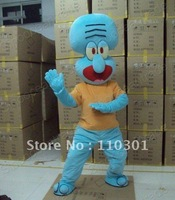 Squidward Tentacles Octopus Adult  Mascot Costume Fancy Outfit Free Shipping