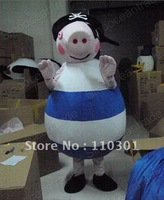 Peppa Pig With Hat Adult  Mascot Costume Fancy Outfit Free Shipping