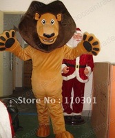 New lion Adult Size Mascot Costume Fancy Outfit Free Shipping