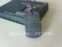 5 pcs / lot Quantum Scalar Energy Pendant Square Design Health Pendant Necklace free shipping(China (Mainland))