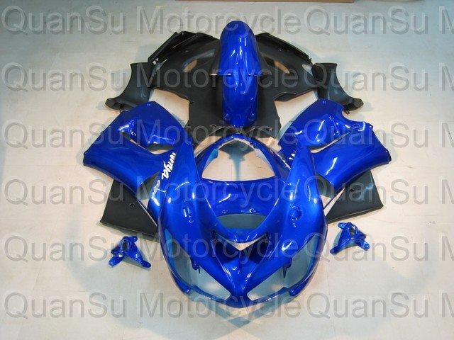 Free Shipping Motorcycle Bodywork Fairing Kawasaki ZX6r 2005-2006  878 blue black