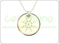 [2 pcs / lot] Quantum Scalar Energy Pendant Steel Chain Style White Color Necklace free shipping