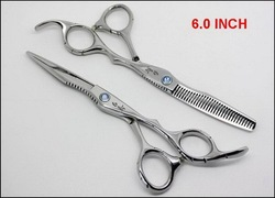 Hakucho Hair Scissors Cutting &amp; Thinning Scissors 6.0 INCH 1 Pair/lot NEW(China (Mainland))