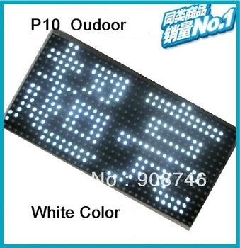 P10 outdoor White color anti-water 32*16pixels led panel display module board with high brightness