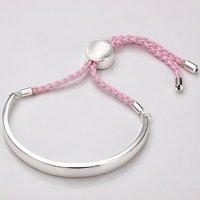 Free Shipping! Fashion Jewelry  Nice pink line adjust size lady style Bracelet LB114 lovely style